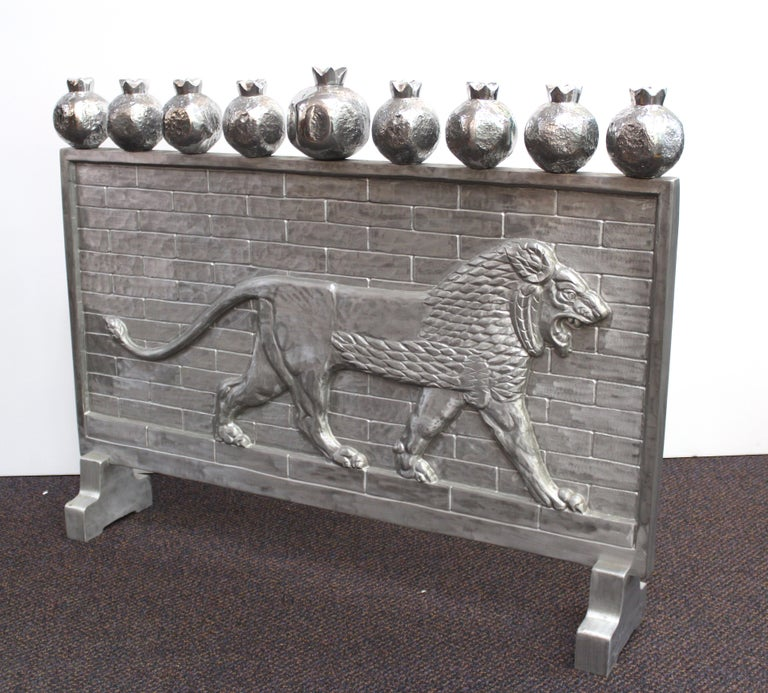 Oded Halahmy 'Babylon Lights' in Aluminum Cast In Excellent Condition For Sale In New York, NY