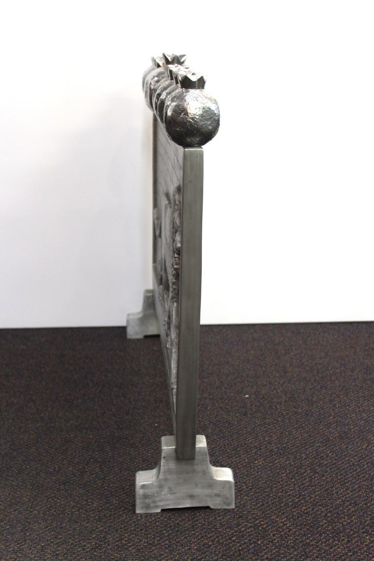 Contemporary Oded Halahmy 'Babylon Lights' in Aluminum Cast For Sale