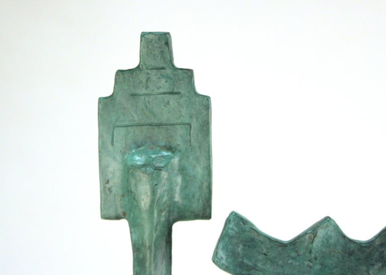 Oded Halahmy Bronze Cast Modern Abstract Sculpture For Sale 3