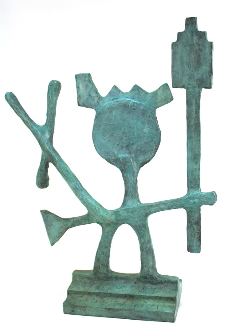Late 20th Century Oded Halahmy Bronze Cast Modern Abstract Sculpture For Sale