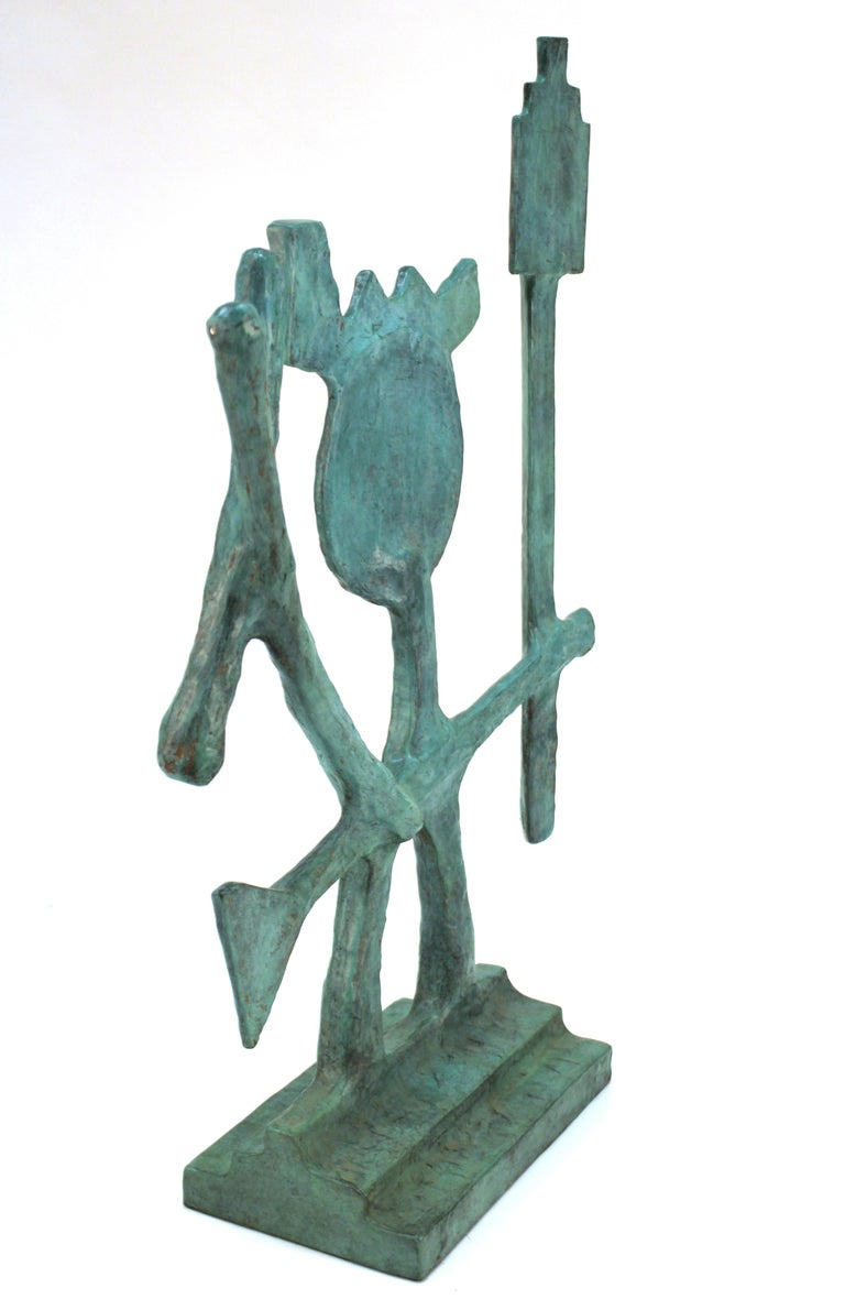 Oded Halahmy Bronze Cast Modern Abstract Sculpture For Sale 1