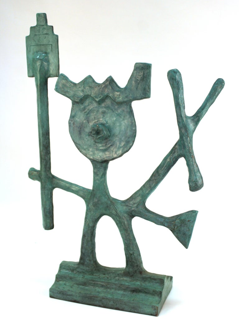 Oded Halahmy Bronze Cast Modern Abstract Sculpture For Sale 2