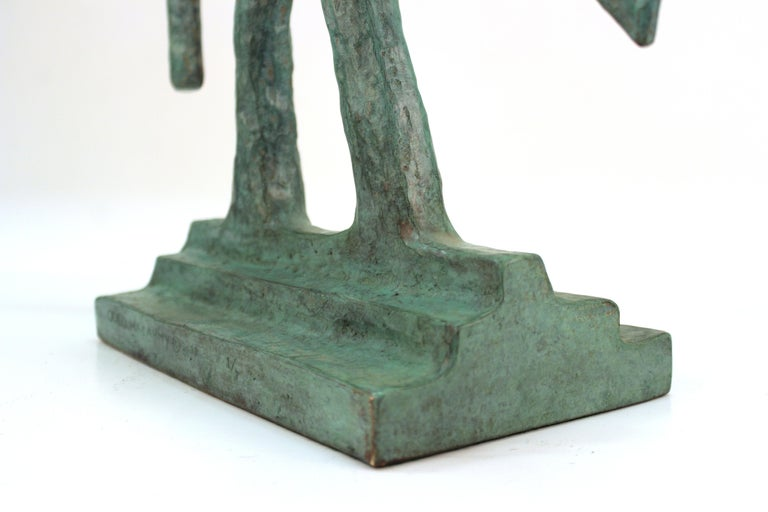 Oded Halahmy Bronze Cast Modern Abstract Sculpture For Sale 7