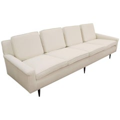 Thayer Coggin Sofa in Off-White Boucle Fabric