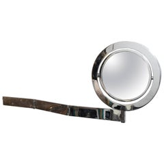 Adjustable Wall-Mounted 'Saturn Mirror' in Chrome