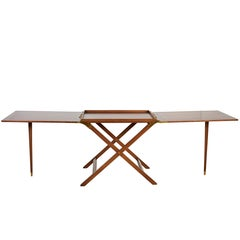 Mid-Century Modern Expandable Serving Table by Baker