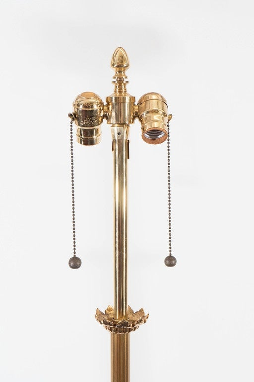 Pair of midcentury brass floor lamps by marbro lamp for Milan floor lamp antique brass 165cm