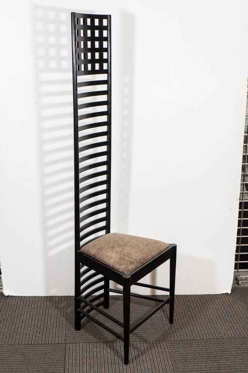 Pair Of Mackintosh Hill House Ladder Back Chairs With