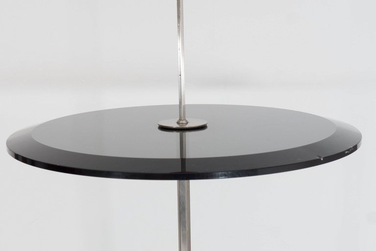 Modern Pierluigi Cerri 'Orio' Glass Top Occasional Table for Fontana Arte For Sale