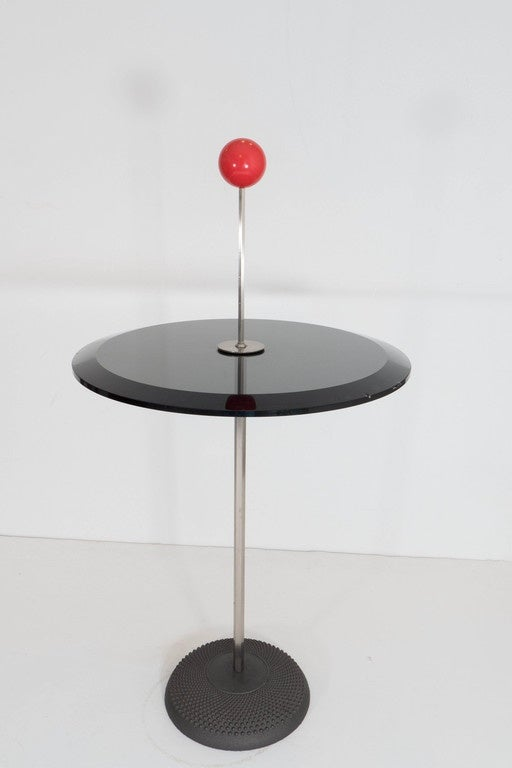 Cast Pierluigi Cerri 'Orio' Glass Top Occasional Table for Fontana Arte For Sale