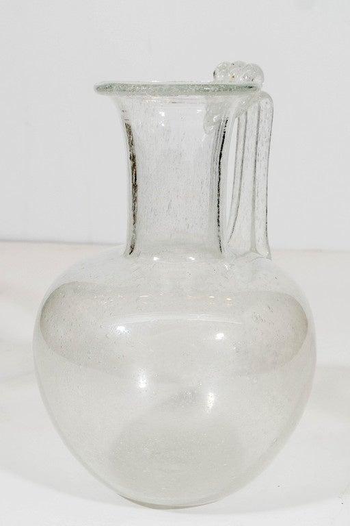 Italian A Vintage Venetian Glass Ewer For Sale
