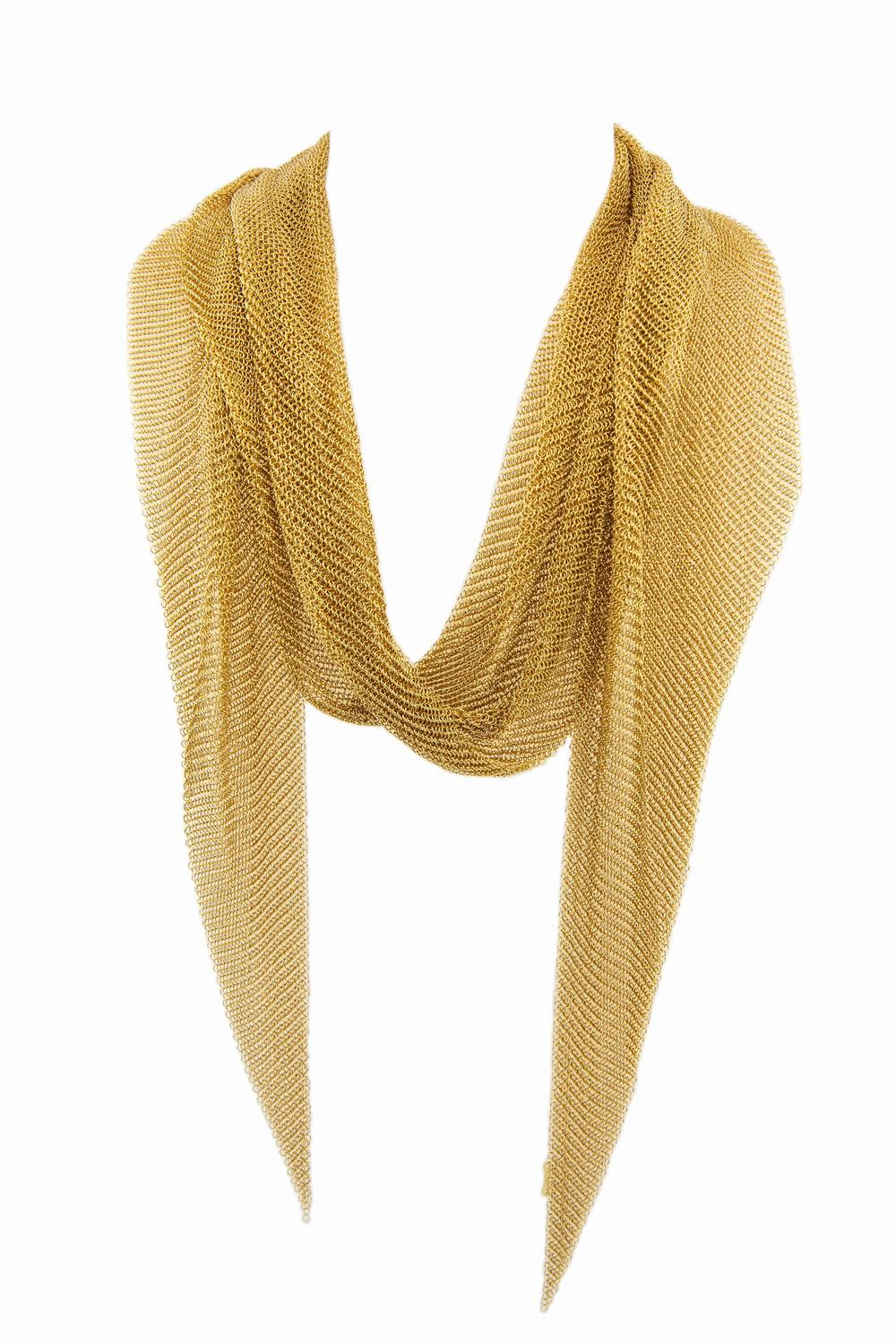 and co elsa peretti mesh scarf necklace in 18k