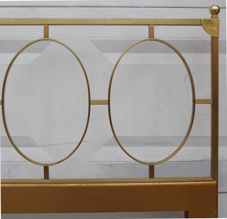 A 1970s King Size Headboard in Brass In Good Condition In New York, NY