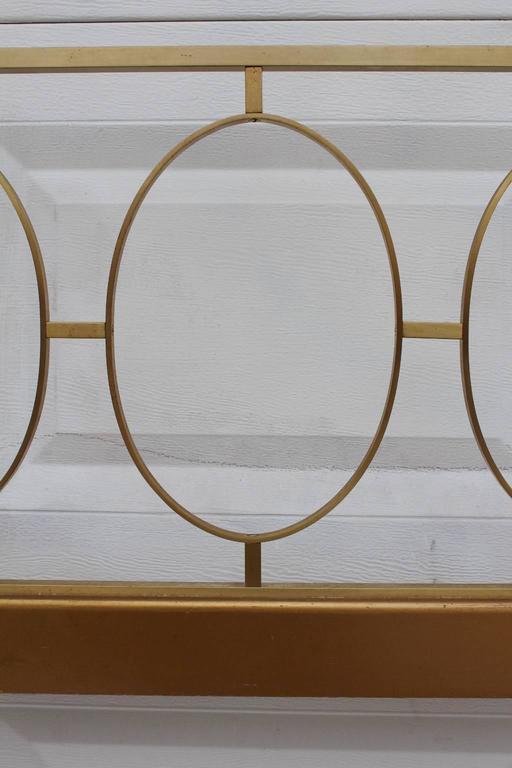 Modern A 1970s King Size Headboard in Brass