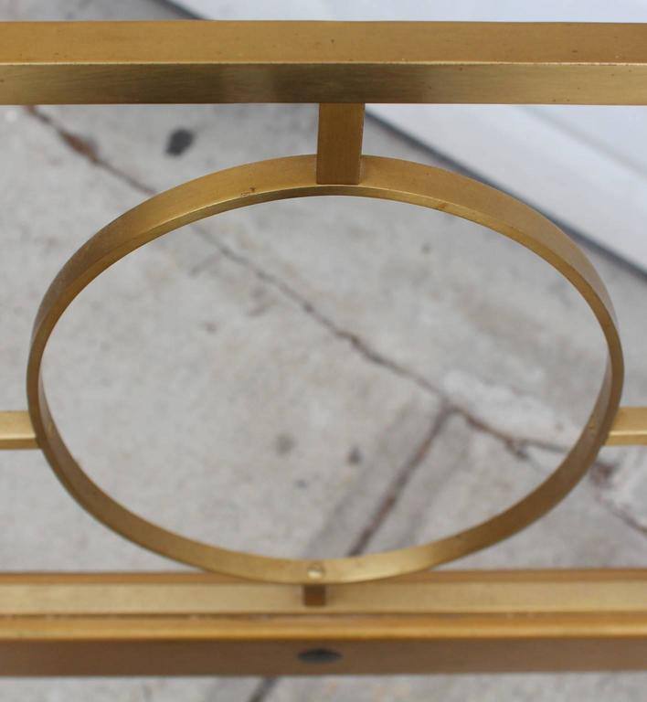 Late 20th Century A 1970s King Size Headboard in Brass