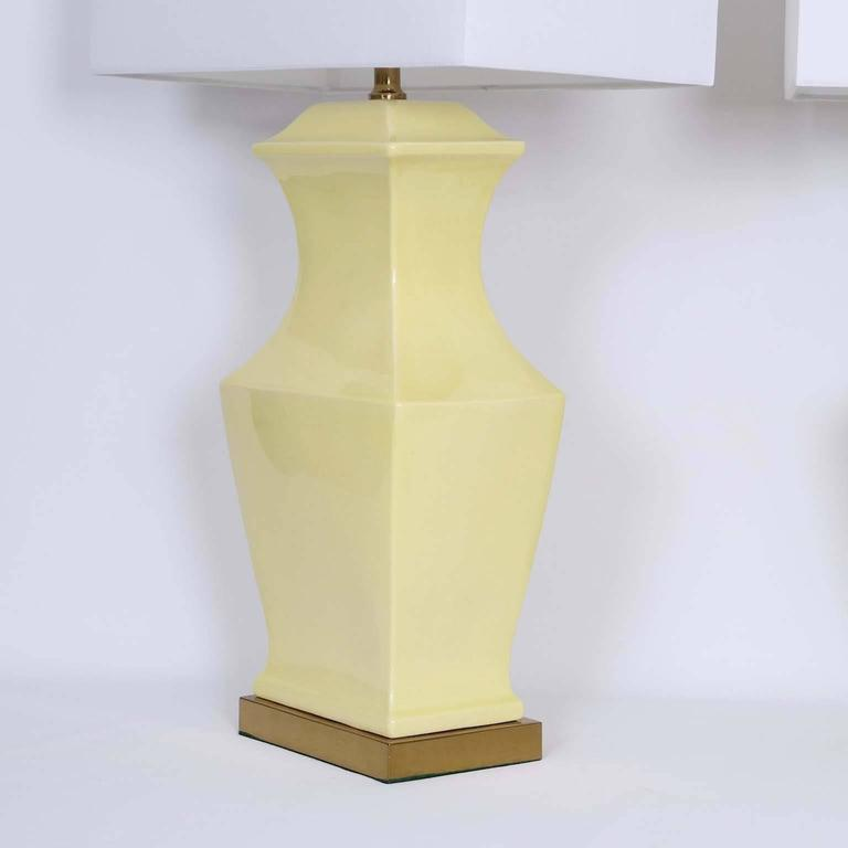 Paul Hanson Ceramic Lamps, Pair 5
