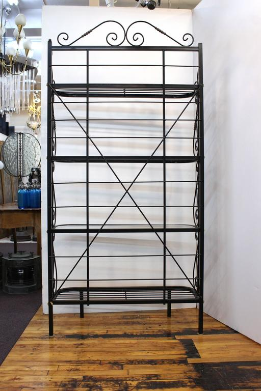 Mid-Century Brass and Metal Bakers Rack 4