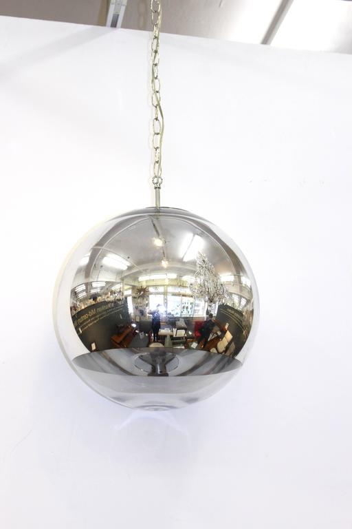 Mid century globe pendant for sale at 1stdibs for Mid century modern globe pendant light