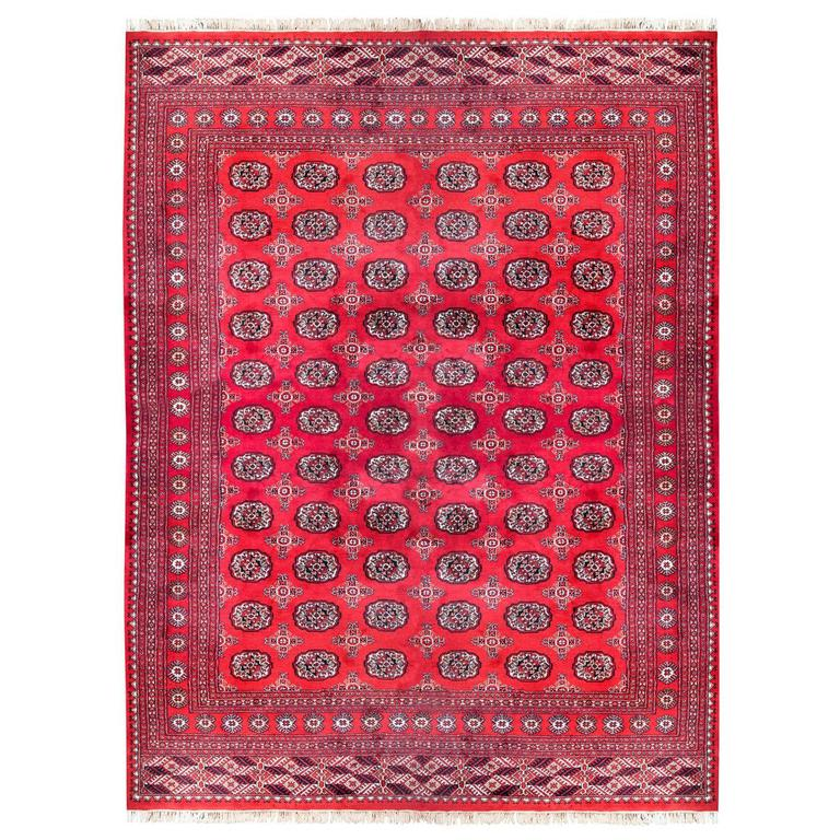 Hand-Knotted Tribal Carpet From Pakistan For Sale At 1stdibs