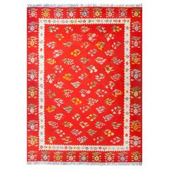 Happy Art Deco Floral Tapestry Rug