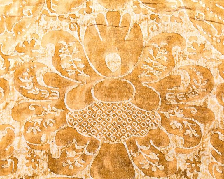 Kingsize Gold and White Fortuni Barbarizi Design Bedspread For Sale 1