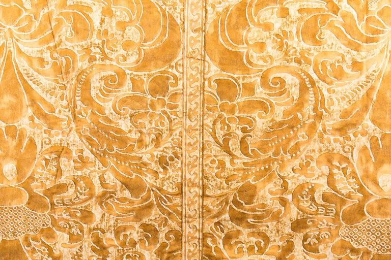 Kingsize Gold and White Fortuni Barbarizi Design Bedspread For Sale 2