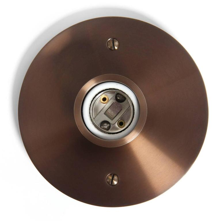 Industrial Wyeth Original Round Flushmount Light Fixture For Sale
