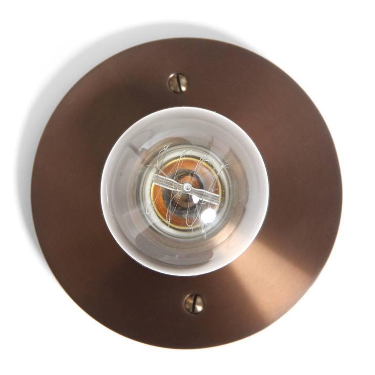 American Wyeth Original Round Flushmount Light Fixture For Sale