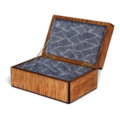 Burl and Ebony Keepsake Box