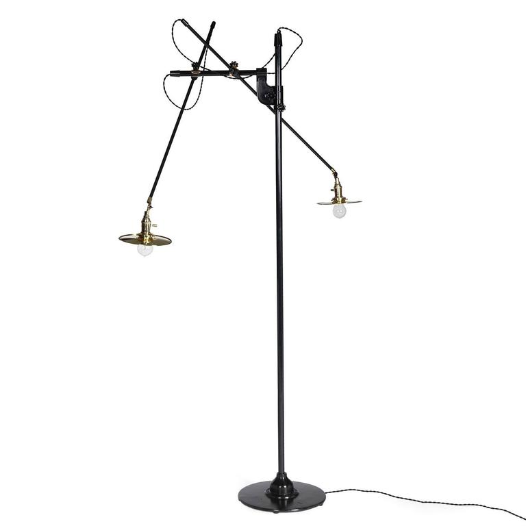 Articulating and Adjustable Two-Arm O.C. White Floor Lamp Customized by WYETH 2