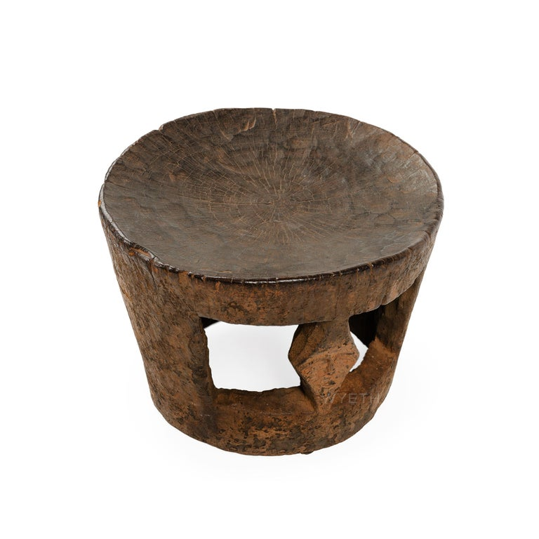 Angolan Hollow Tribal Stool For Sale