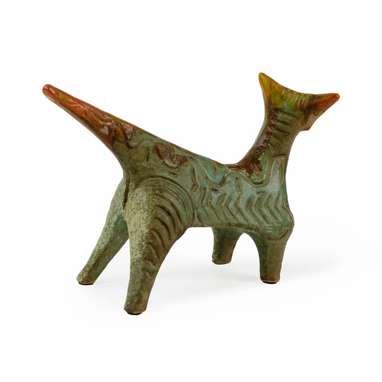 Mid-Century Modern Ceramic Cat For Sale