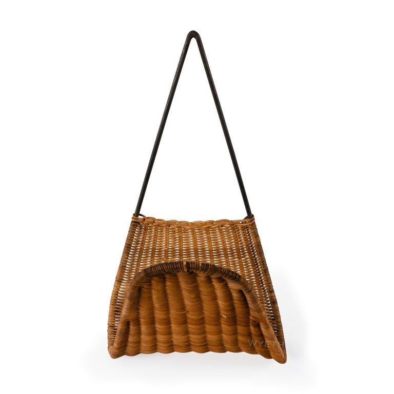 Austrian Woven Wall Magazine Rack For Sale
