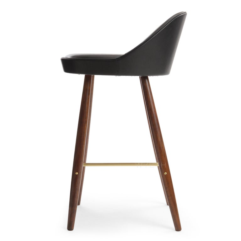 American Low Backed Bar Stool For Sale