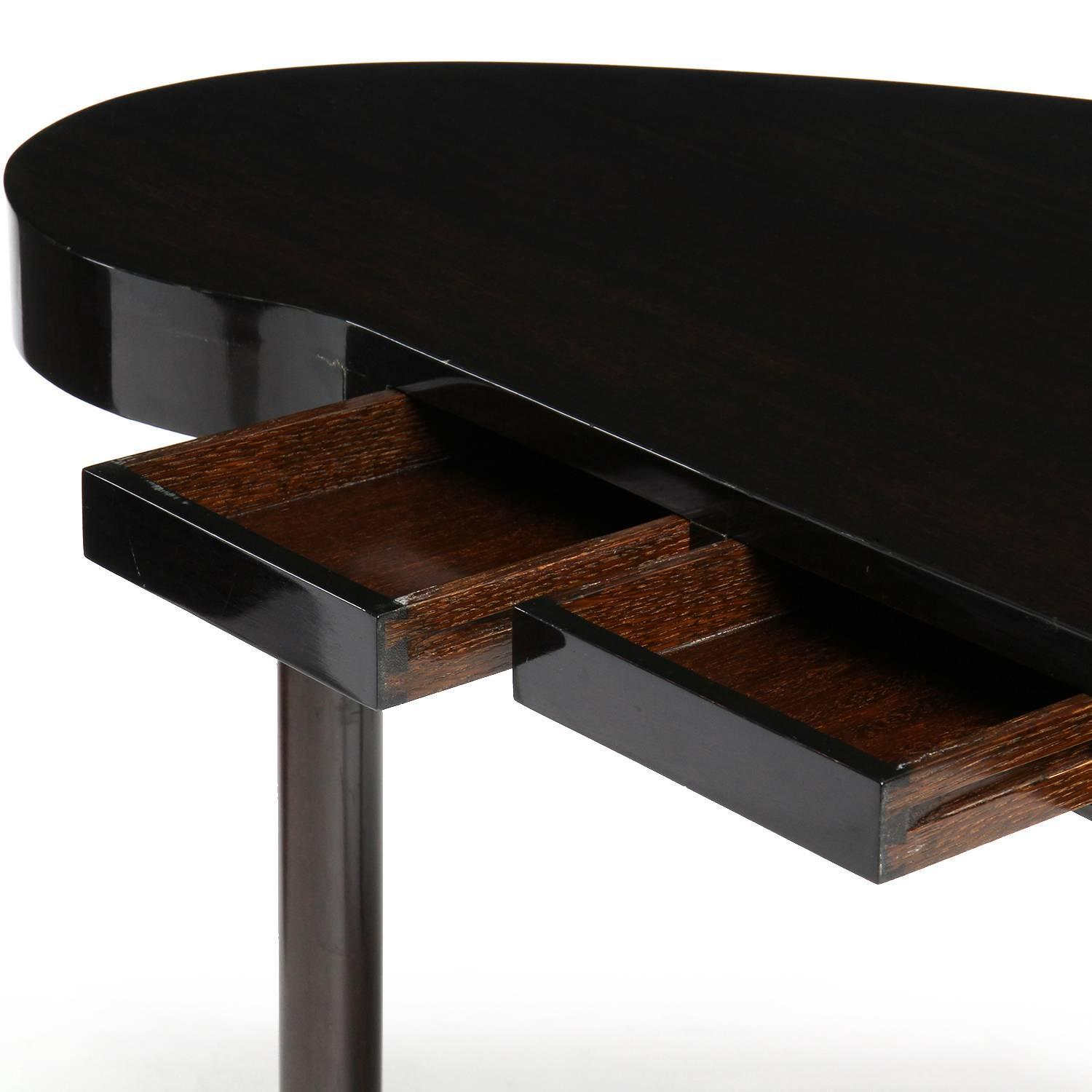 Kidney shaped desk by paul frankl for sale at 1stdibs for Kidney desk for sale