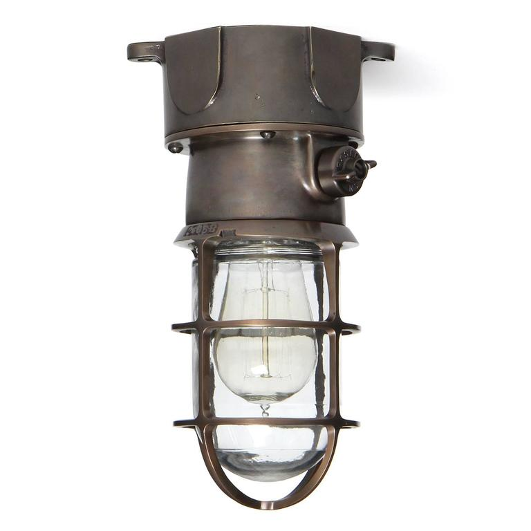 caged lighting. industrial bronze caged light by russell u0026 stoll co lighting a