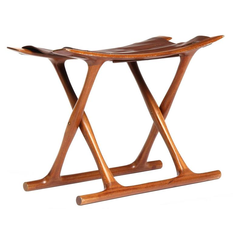 Egyptian Folding Stool By Ole Wanscher For Sale At 1stdibs