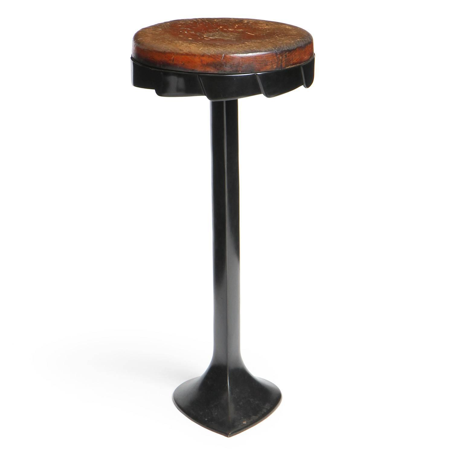 Patinated Cast Iron Barstool For Sale At 1stdibs