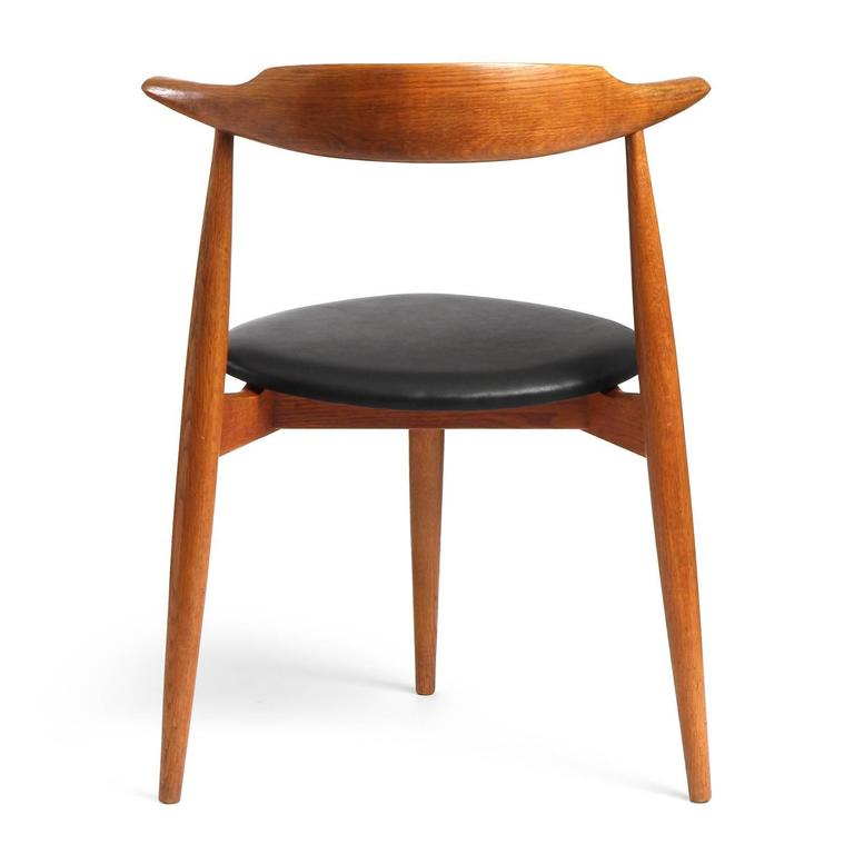 This four wishbone chairs by hans wegner is no longer available - Stacking Heart Chair By Hans J Wegner At 1stdibs