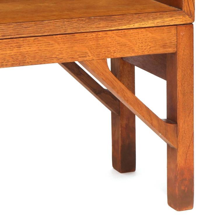 Oak Danish Modern Teak Standing Bookcase by Børge Mogensen For Sale