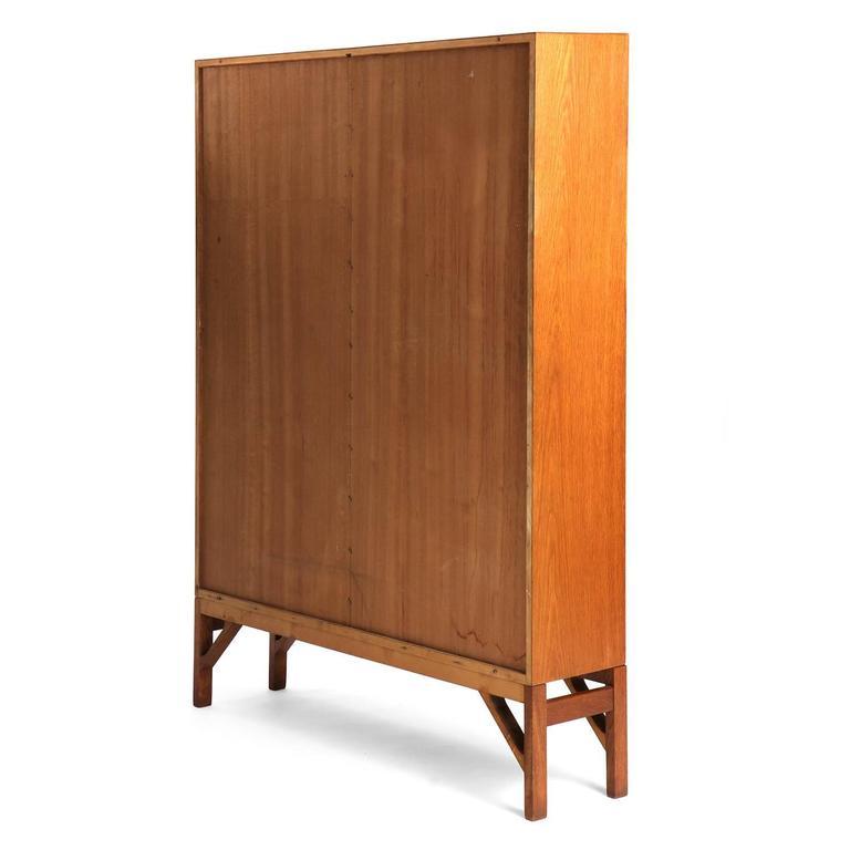 Mid-20th Century Danish Modern Teak Standing Bookcase by Børge Mogensen For Sale