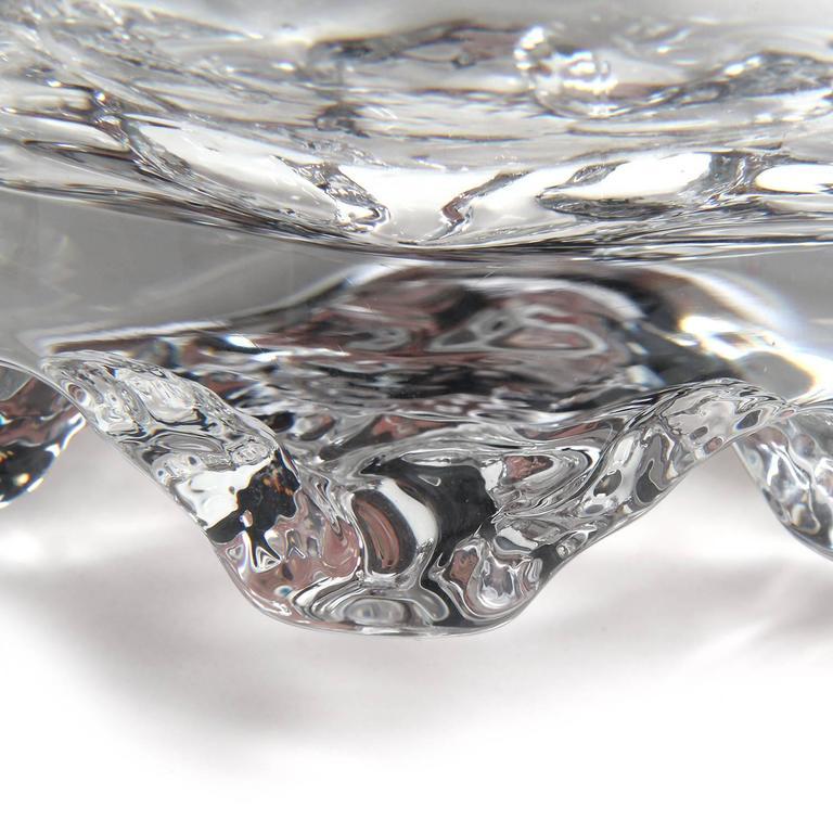Finnish Glass Bowl Tapio Wirkkala For Sale