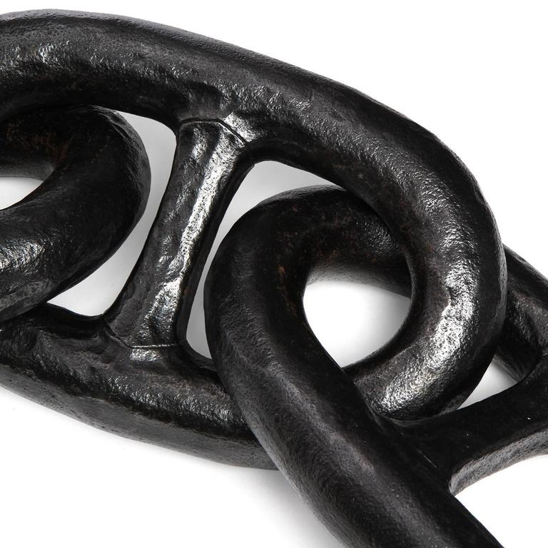 Forged Link Chains : Patinated forged iron chain links for sale at stdibs
