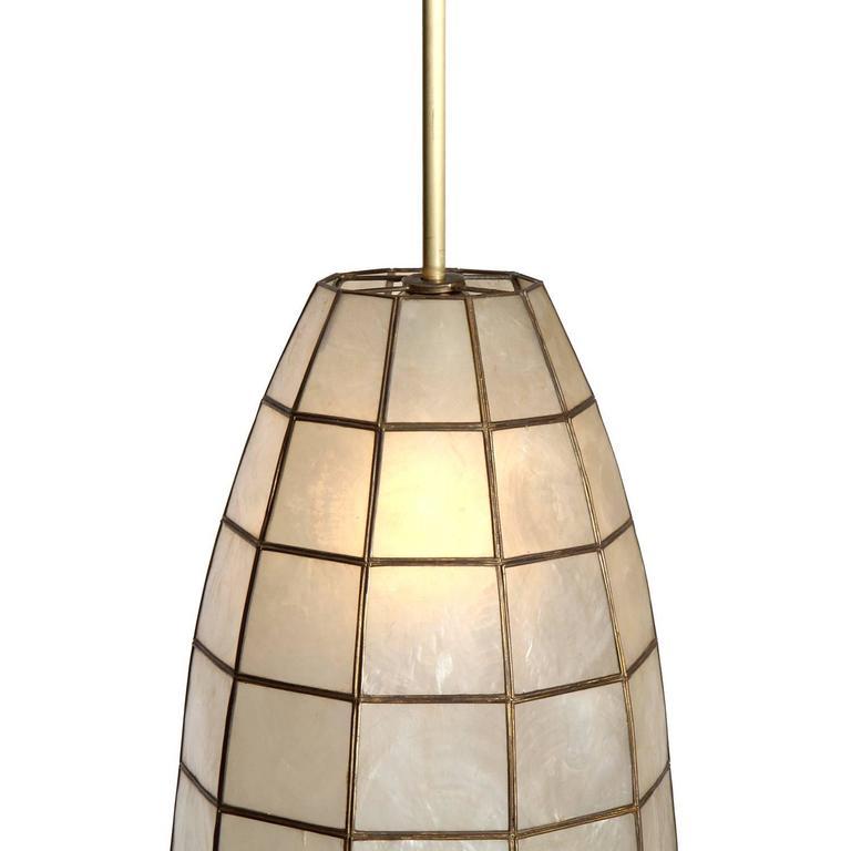 Capiz shell ceiling pendants at 1stdibs for Shell ceiling light fixtures