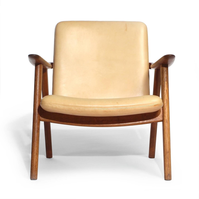 Oak reading chair by hans j wegner for sale at 1stdibs for Oversized reading chair for sale