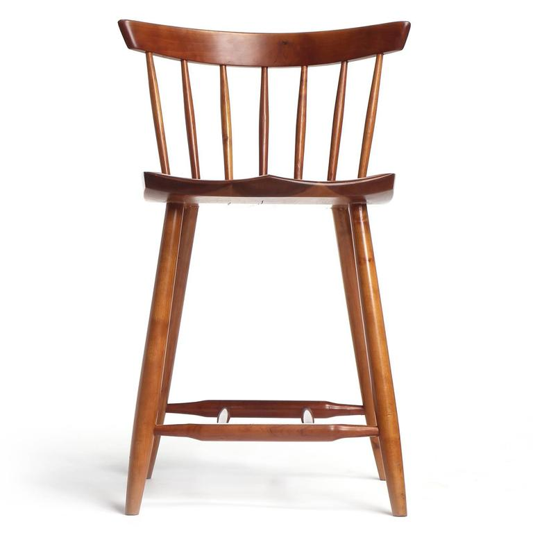 Cherry Wood Stool By George Nakashima For Sale At 1stdibs
