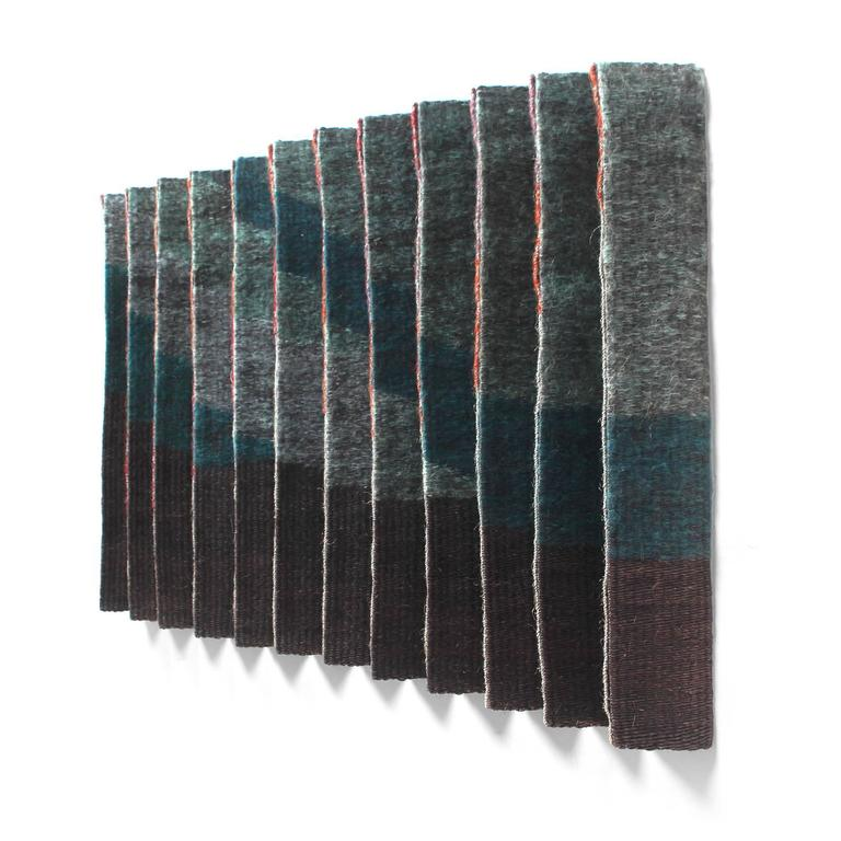 Mid-Century Modern Pleated Textile Wall Art For Sale