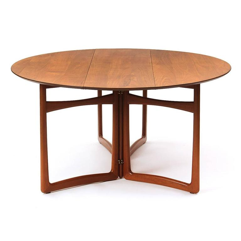 Danish Drop-Leaf Table by Peter Hvidt and Orla Mølgaard-Nielsen For Sale