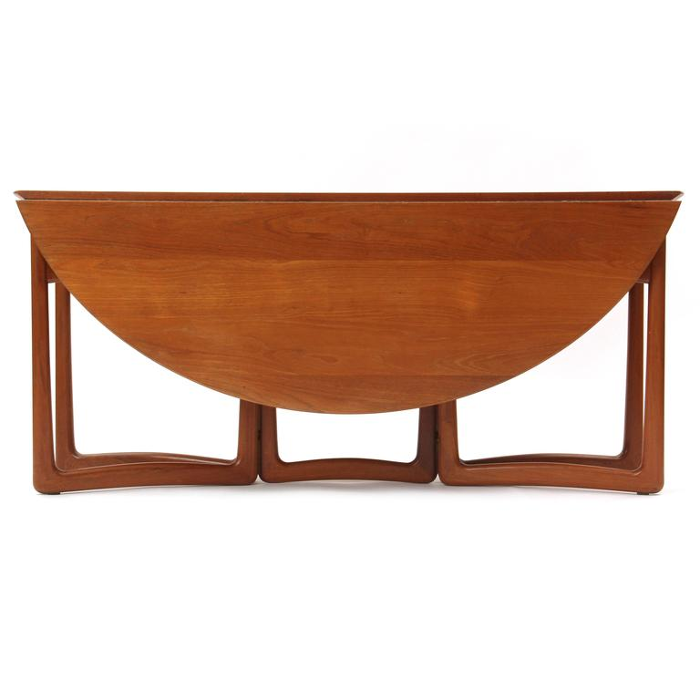 Mid-20th Century Drop-Leaf Table by Peter Hvidt and Orla Mølgaard-Nielsen For Sale
