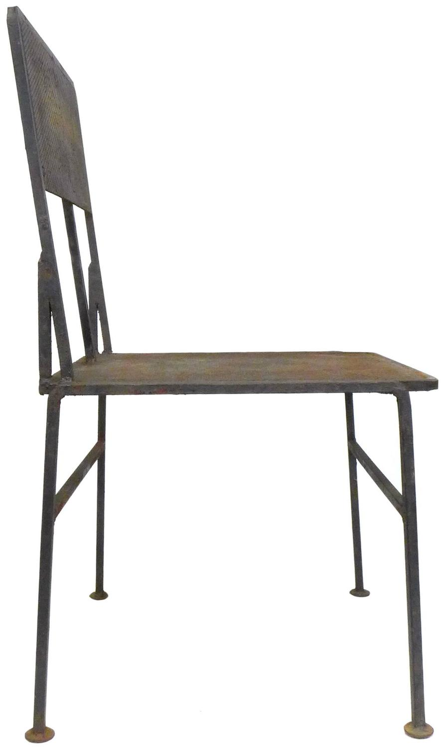 perforated iron outdoor table and chairs set at 1stdibs